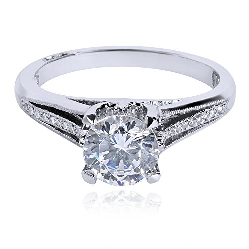 BRAND NEW Tacori Engagement Ring Set in 18KT White Gold 2601 RD 5 W (0.06 ()