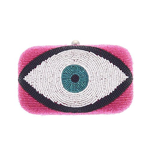 Beaded Clutch Multi Pink Erica From Xavier Eye Box St TYFqI