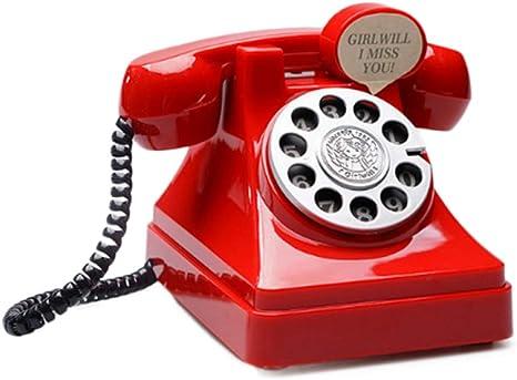 DAIFUQIANG Teléfono Dinero Teléfono Caja De Monedas Tocadiscos ...