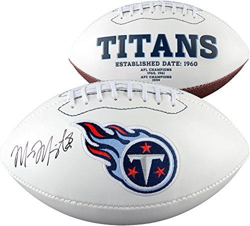 Marcus Mariota Tennessee Titans Autographed White Panel Football - Fanatics Authentic Certified - Autographed Footballs Autographed Tennessee Titans Football