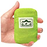#9: Pocket Blanket (Traveler's Ground Sheet) - Water Resistant, Foldable, Lightweight, 5 oz, 6.25 x 4.16 feet - for Camping, Beach, Hiking or Picnic (1 or 2 person)