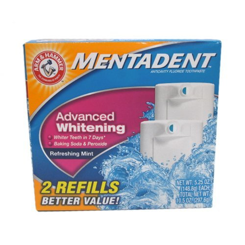 Mentadent Advanced Whitening Toothpaste, 5.25 oz. each (Pack of 3)
