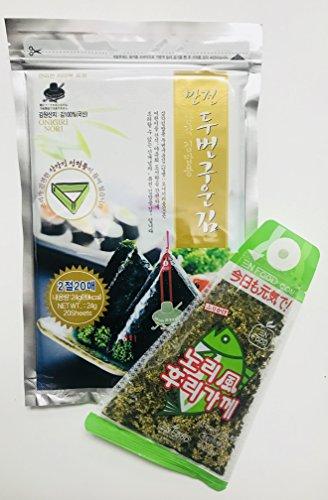Efnine Man Jun Onigiri Nori Rice Ball Triangular Sushi Seaweed Wrappers Starter Kit with Furikake Rice (Sushi Starter Kit)