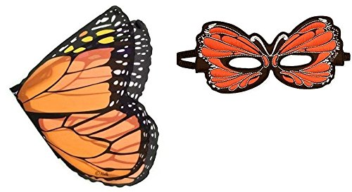 Douglas Dreamy Dress-ups Fanciful Orange Butterfly Wings and Mask - (Dress Ups)