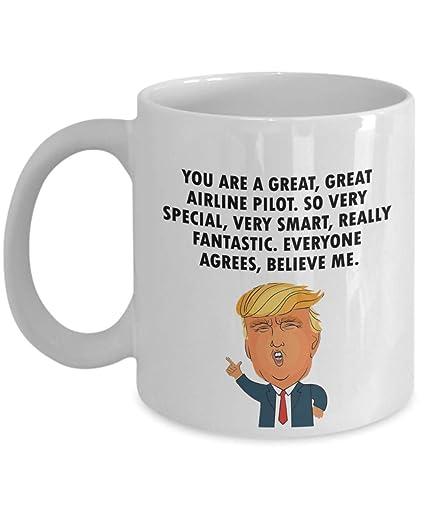 5fb447287b6 Amazon.com: Trump Profession - Airline Pilot - Funny Quote Coffee ...