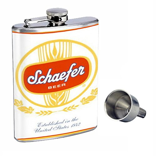 Vintage Beer Ad Perfection In Style 8oz Stainless Steel Whiskey Flask with Free Funnel D-566