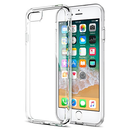 : iPhone 8 7 Case, Trianium [Clarium Series] Protective Cover for Apple iPhone 7 8 Case [Shock Absorption] Reinforced Corner TPU Bumper Cushion + Scratch Resistant Hybrid Rigid Clear Back - Clear