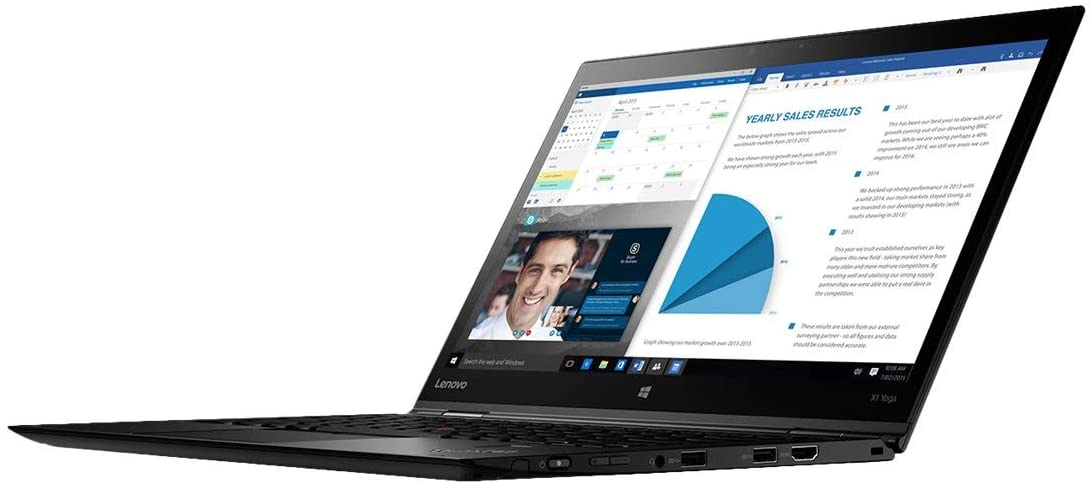 "Lenovo 20LD001HUS ThinkPad X1 Yoga 20LD 14"" Flip Design Notebook - Windows - Intel Core i7 1.9 GHz - 16 GB RAM - 512 GB SSD, Black"