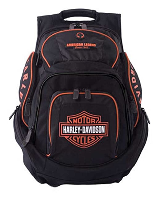 Amazon.com | Harley-Davidson Mens Deluxe Backpack BP1900S-ORGBLK | Casual Daypacks