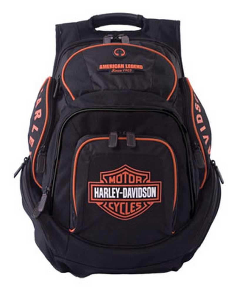 Harley-Davidson Mens Deluxe Backpack BP1900S-ORGBLK by Harley-Davidson