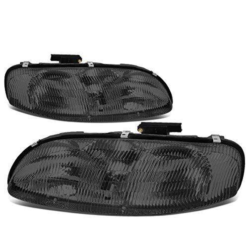 (For 95-01 Chevy Lumina/Monte Carlo Chrome Housing Smoke Lens Headlight/Lamps - Pair)