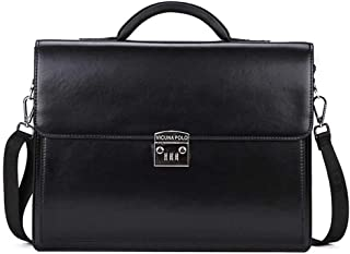 Luxury Business Mens Briefcase with Code-Lock OL Business Man Bag Black