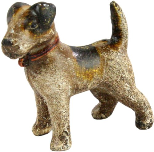 HomArt Cast Iron Woody The Jack Russell Terrier, Natural