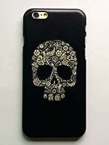 Iphone 6 Case,case for Iphone 6,LYYF Fashion and High Quality the Flowers Skull Hard Case/cover for Iphone 6(4.7 Inch)