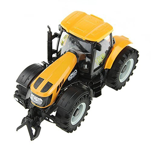 Diecast Tractor Truck (Starsource Yellow New 1:32 Scale Big Farm Lights And Sounds Music Die Cast Tractor Truck Toys,For Toddler Boys)