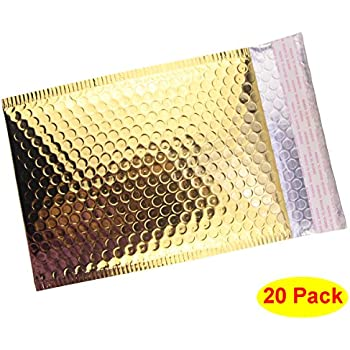 HOSL 20 Pack Metallic Padded Bubble Mailers 6.25