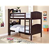 Coaster 460442-CO Parker Bookcase Twin Over Twin Bunk Bed