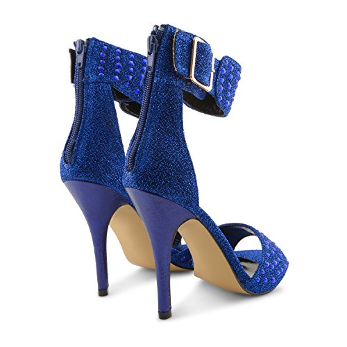 Dolcis - Sandalias de vestir para mujer Negro negro Negro - azul