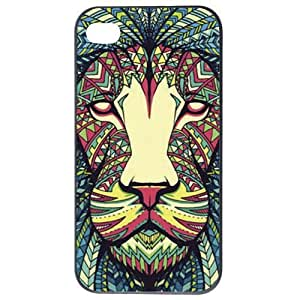 Fashion Personality Vintage Pattern Aztec Animal Lion Hard Back Plastic Case Cover Skin Protector For iphone 5 5g by Alexism