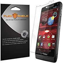 Motorola Droid RAZR M Screen Protector [5-Pack][XT907], Flex Shield - Ultra Clear Japanese PET Film with Lifetime Warranty - Bubble-Free HD Clarity with Anti-Fingerprint & Scratch Resistance