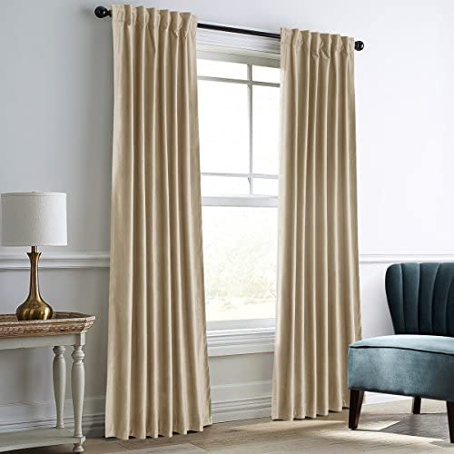 Dreaming Casa Darkening Velvet Curtains for Living Room Thermal Insulated Rod Pocket Back Tab Window Curtain for Bedroom 2 Panels 100 W x 102 L