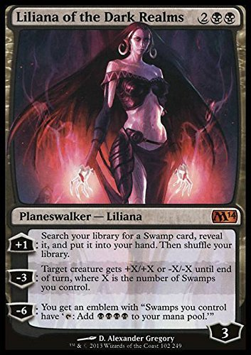7aefd62af4c8 Amazon.com  Magic  the Gathering - Liliana of the Dark Realms (102 ...