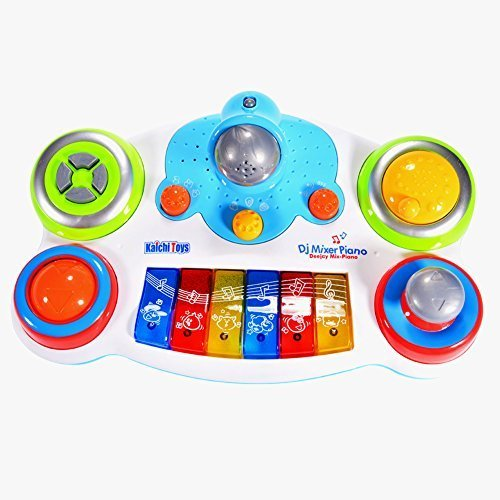 Sound Electronic Effects (GlowSol DJ Music Player with Piano Drum Electronic Guitar Sound and Light Effect for Baby Toddlers)
