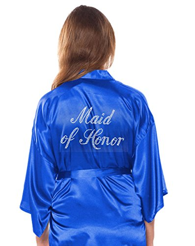 Royal Blue Satin Rhinestone - 3