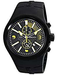 Momo Design Men's MD1009BK-05BKYW Mirage Chrono Analog Display Swiss Quartz Black Watch