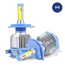 H4 9003 HB2 LED Headlight Bulbs, ProGreen LED Headlamp Conversion Kits for Cars Automotive, 40W 6500K Cool White (Pack of 2)
