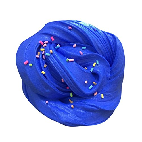 Fluffy Slime - Giantyu 60ml Cute Super Soft Jumbo Fluffy Floam Slime Stress Relief Toy Cream Scented Sludge Clay Toys Gifts for Kids and Adults, Multicolor (Blue)