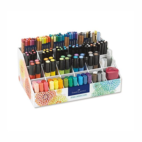 Faber-Castell Design Memory Craft Studio Caddy Premium Gift Set, Pigment Sticks with Storage for Art and Painting, 174 Piece