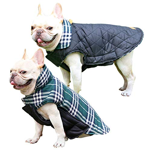 CutePet Cozy Dog Jacket Dog Winter Vest Warm Dog Coat for Small to Large Breed (M Green)