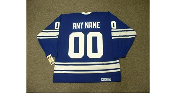 2ca6d9b6 TORONTO MAPLE LEAFS 1960's CCM Vintage Throwback Home Hockey Jersey  Customized with