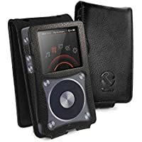 Tuff-Luv Faux Leather Case Cover for Fiio X5 2nd Gen - MP3 (Inc. Screen Protector) - Black