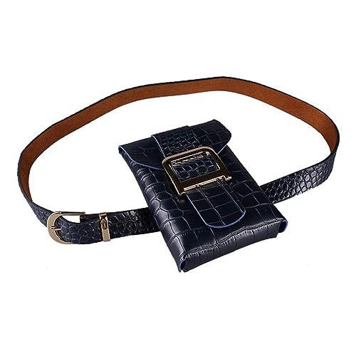 80599fe808 Borse da cintura Cintura borsa marsupio donna Borsa fibbia pelle di  serpente modello PU Fanny Pack