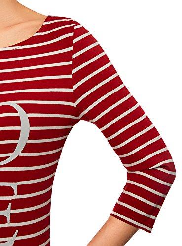 Ultra Rouge Maille en Femme oodji Imprime 4512s Robe v7Y8qxwxd
