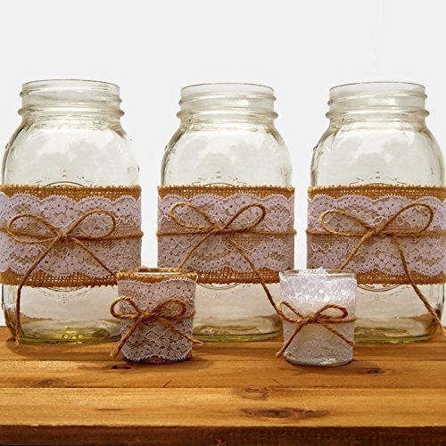 Amazon Rustic Or Country Wedding Centerpieces And Candles Handmade
