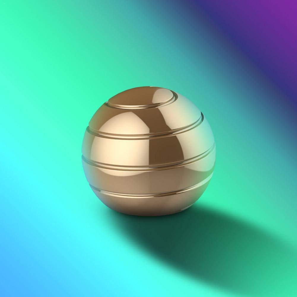 evergremmi Desktop Dekompression rotierende sph/ärische Gyroskop kinetische Schreibtisch Spielzeug Metall Gyro Illusion flie/ßenden Finger Spielzeug