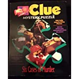 Clue Mystery Puzzle Six Cases of Murder by MILTON BRADLEY
