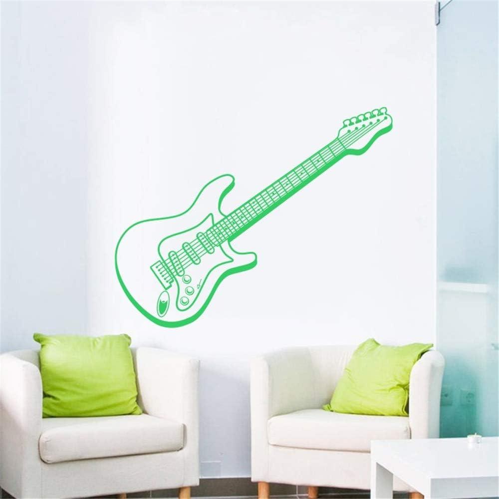 Ajcwhml Música Arte Diseño Etiqueta de La Pared de la Guitarra Eléctrica Agradable Tatuajes de Pared Mural Casa Dormitorio Arte Especialmente Decorativos Tatuajes de Pared 34x86 cm: Amazon.es: Hogar