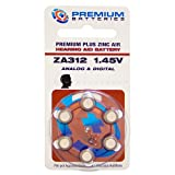 Premium Batteries 1.45V Hearing Aid Batteries Size 312 120 Batteries