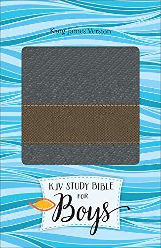 KJV Study Bible for Boys Granite/Copper, Metallic Design Duravella