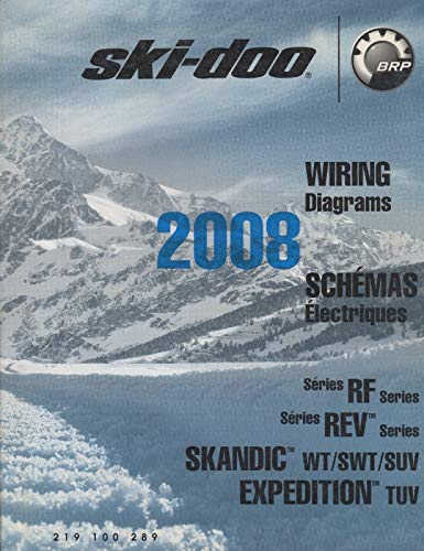 2008 SKI-DOO SNOWMOBILE WIRING DIAGRAMS RF,REV,SKANDIC, EXPEDITION MODELS (295)