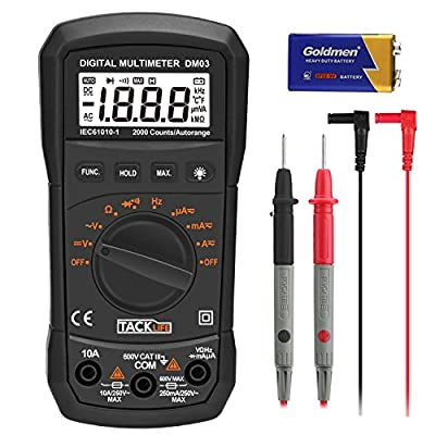 TACKLIFE DM03 Auto Ranging Digital Multimeter