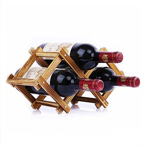 Wood Top Wine Rack - 7