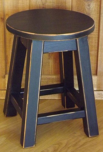 - Distressed color's round top stool 16