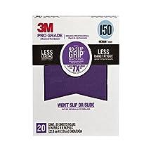 "3M 26150CP-P-G 150 Grit Pro Grade No-Slip Grip Advanced Sandpaper, 9 x 11"""