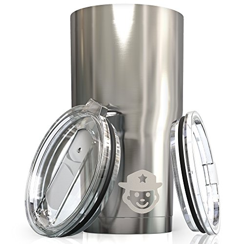 30 oz Stainless Steel Tumbler – Vacuum insulated Tumbler Police Stainless Steel