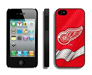 Designer Popular Iphone 4/4s Case NHL Detroit Red Wings 3 Phone Hard Cover Cheap